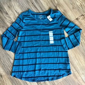 Old Navy blue and black striped tee